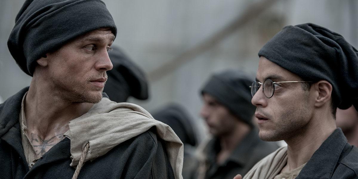 Чарли Ханнем и Рами Малек убегают из тюрьмы - трейлер фильма