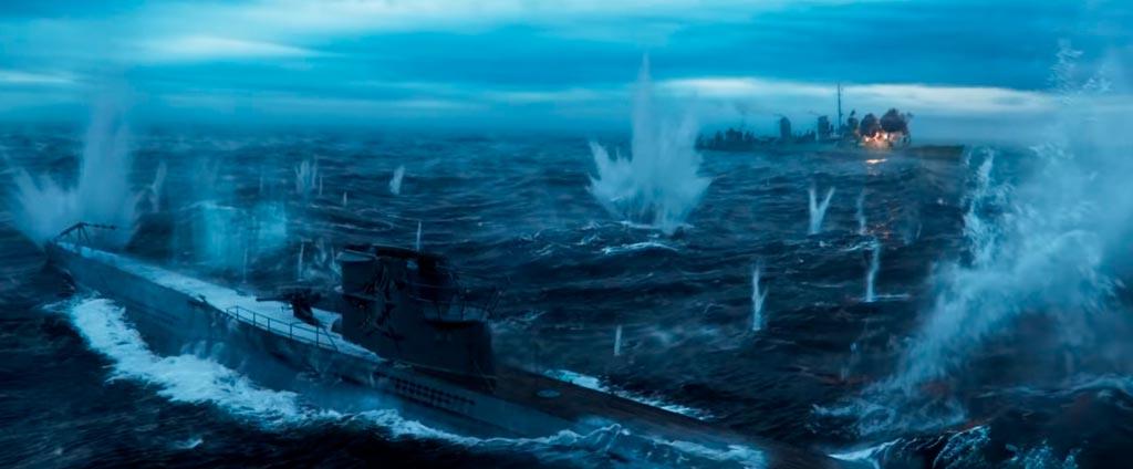 Грейхаунд фильм - битва с подводной лодкой